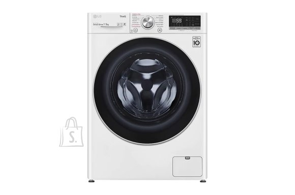 LG LG Washing Machine With Dryer F2DV5S7S1E Energy efficiency class D, Front loading, Washing capacity 7 kg, 1200 RPM, Depth 46 cm, Width 60 cm, Display, LED, Drying system, Drying capacity 5 kg, Steam function, Direct drive, Wi-Fi, White