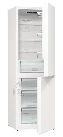 Gorenje Gorenje Refrigerator NRK6191EW4 Energy efficiency class F, Free standing, Combi, Height 185 cm, No Frost system, Fridge net capacity 204 L, Freezer net capacity 96 L, Display, 38 dB, White