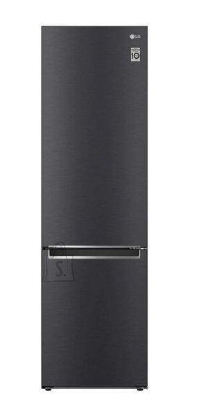 LG LG Refrigerator GBB62MCJMN Energy efficiency class E, Free standing, Combi, Height 203 cm, No Frost system, Fridge net capacity 277 L, Freezer net capacity 107 L, Display, 36 dB, Matte Black