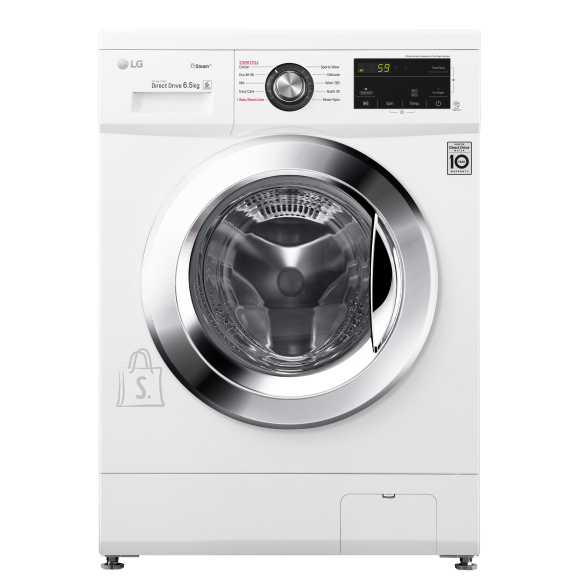 LG LG Washing machine F2J3WY5WE Energy efficiency class E, Front loading, Washing capacity 6.5 kg, 1200 RPM, Depth 44 cm, Width 60 cm, Display, LED, Steam function, Direct drive, White