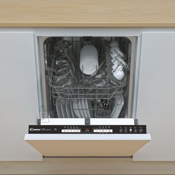 Candy Candy Dishwasher CDIH 1L952 Built-in, Width 44.8 cm, Number of place settings 9, Number of programs 5, Energy efficiency class F, AquaStop function, White