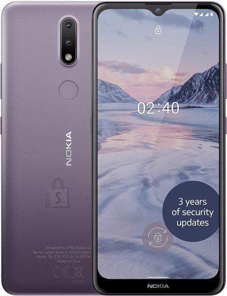 "Nokia Nokia 2.4 TA-1270 6.5 "", Dusk Purple, IPS LCD, 720 x 1600 pixels, Mediatek MT6762 Helio P22, Dual SIM, Nano-SIM, 5.0, Internal RAM 2 GB, 32 GB, MicroSDXC, 3G, 4G, Main camera 13+2 MP, Secondary camera 5 MP, Android, 10.0, 4500 mAh"