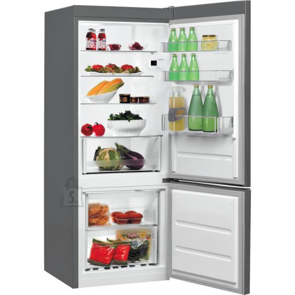 Indesit INDESIT Refrigerator LI6 S1E X Energy efficiency class F, Free standing, Combi, Height 158.8 cm, Fridge net capacity 197 L, Freezer net capacity 75 L, 39 dB, Inox