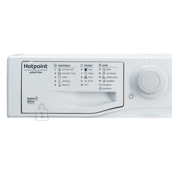 Hotpoint Washing machine RSF621 K EE N Energy efficiency class F, Front loading, Washing capacity 6 kg, 1200  RPM, Depth 42.5 cm, Width 59.5 cm, Display, Small Digit, White