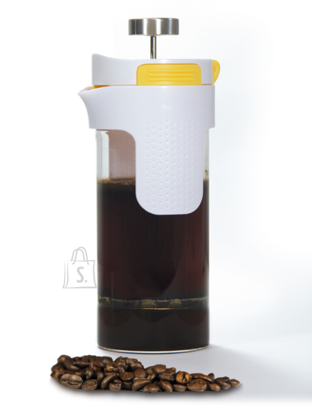 Stoneline Stoneline 2in1 French Press Tea Maker 14348 0.75 L, Glass, Grey/Yellow