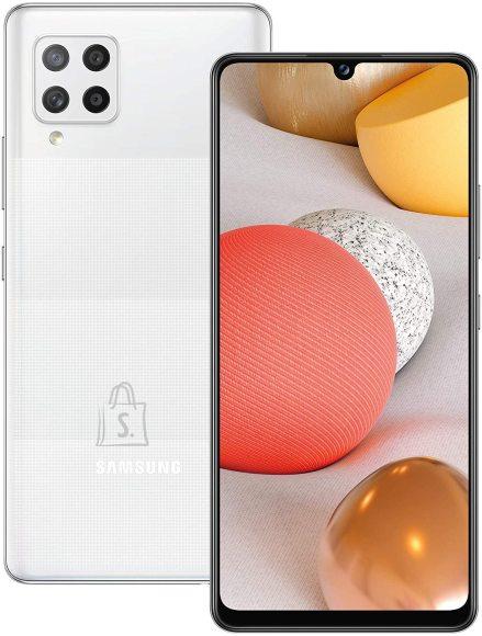 "Samsung Samsung Galaxy A42 5G Prism Dot White, 6.6 "", Super AMOLED, 720 x 1600, Qualcomm SM7225 Snapdragon 750 5G, Internal RAM 4 GB, 128 GB, MicroSD, Dual SIM, Nano-SIM, 3G, 4G, 5G, Main camera 48+8+5+5 MP, Secondary camera 20 MP, Android, 10, 5000 mAh"
