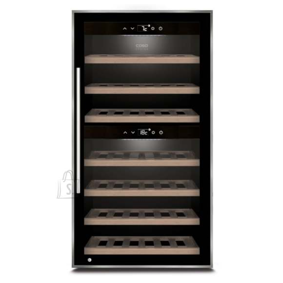 Caso Caso Wine cooler WineComfort 66 Energy efficiency class G, Free standing, Bottles capacity Up to 66 bottles, Cooling type Compressor technology, Black