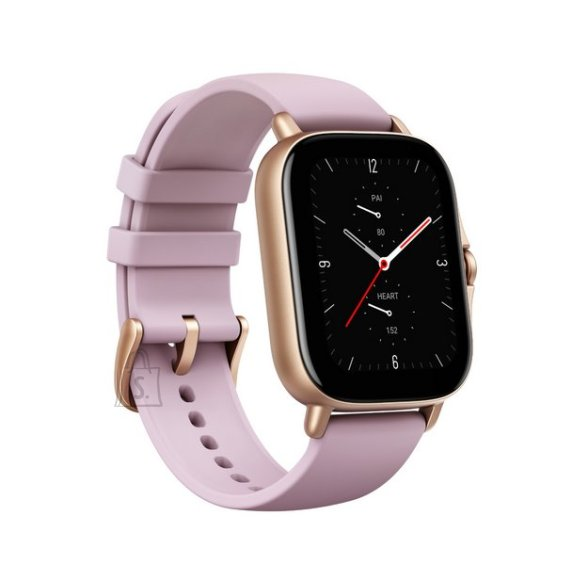Amazfit GTS 2e Smart watch, GPS (satellite), AMOLED Display, Touchscreen, Heart rate monitor, Activity monitoring 24/7, Waterproof, Bluetooth, Lilac Purple