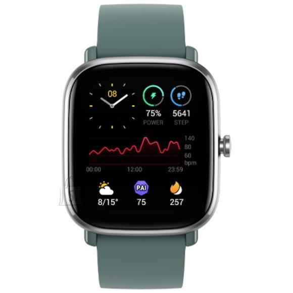 Amazfit GTS 2mini Smart watch, GPS (satellite), AMOLED Display, Touchscreen, Heart rate monitor, Activity monitoring 24/7, Waterproof, Bluetooth, Sage Green
