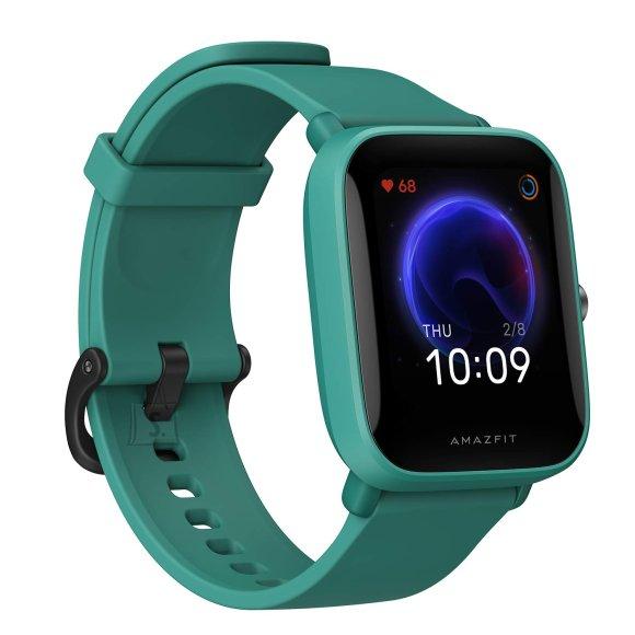 Amazfit Bip U Smart watch, GPS (satellite), AMOLED Display, Touchscreen, Heart rate monitor, Activity monitoring 24/7, Waterproof, Bluetooth, Green
