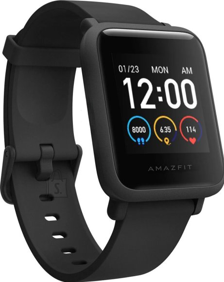 Amazfit Bip S Lite  Smart watch, GPS (satellite), AMOLED Display, Touchscreen, Heart rate monitor, Activity monitoring 24/7, Waterproof, Bluetooth, Charcoal Black