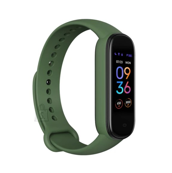 Amazfit Band 5 Fitness tracker, GPS (satellite), AMOLED Display, Touchscreen, Heart rate monitor, Activity monitoring 24/7, Waterproof, Bluetooth, Olive