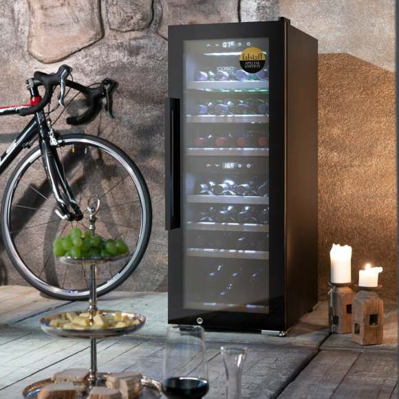 Caso Caso Smart Wine Cooler WineExclusive 38 Energy efficiency class G, Free standing, Bottles capacity Up to 38 bottles, Cooling type Compressor technology, Black