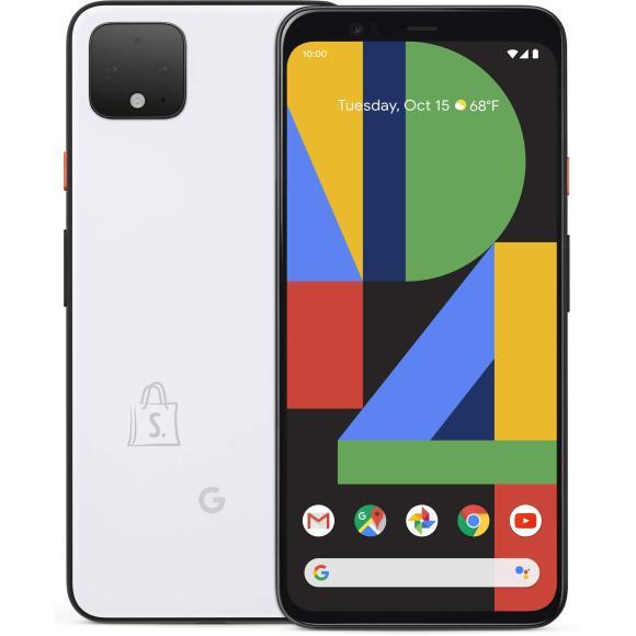 "Google google Pixel 4 XL White, 6.3 "", P-OLED, 1440 x 3040 pixels, Qualcomm SM8150 Snapdragon 855, Internal RAM 6 GB, 64 GB, Single SIM, Nano-SIM card and eSIM, 4G, Main camera 12.2+16 MP, Secondary camera 8 MP, Android, 10, 3700 mAh"