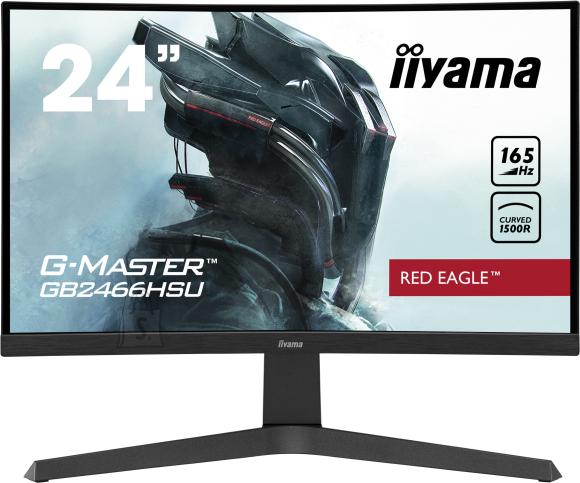 "Iiyama Iiyama Red Eagle Gaming Monitor G-Master GB2466HSU-B1 24 "", VA, 1920 x 1080 pixels, 16:9, 1 ms, 250 cd/m?, Black, matte, 1 x HDCP, 1 x Headphone connector"