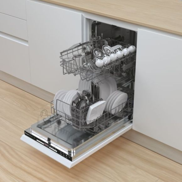 Candy Candy Dishwasher CDIH 2D949 Built-in, Width 44.8 cm, Number of place settings 9, Number of programs 7, Energy efficiency class E, Display, AquaStop function, White