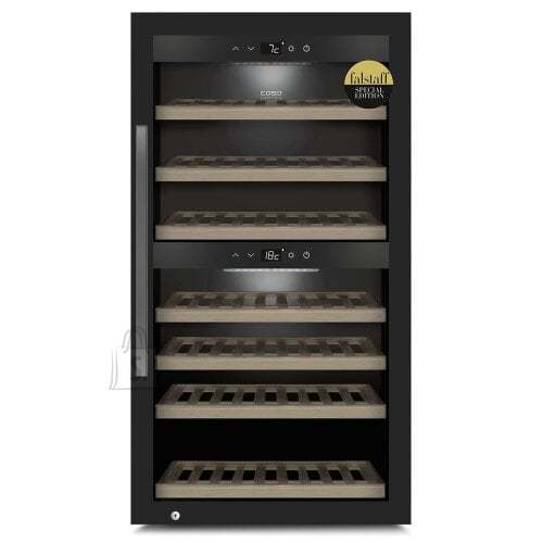 Caso Caso Smart Wine Cooler WineExclusive 66 Energy efficiency class G, Free standing, Bottles capacity Up to 66 bottles, Cooling type Compressor technology, Black