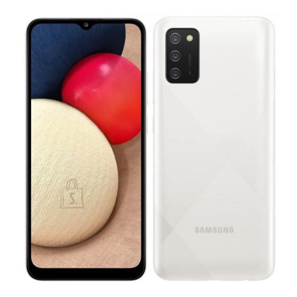 "Samsung Samsung Galaxy A02s White, 6.5 "", PLS IPS, 720 x 1600, Qualcomm SDM450 Snapdragon 450, Internal RAM 3 GB, 32 GB, microSDXC, Dual SIM, Nano-SIM, 3G, 4G, Main camera 13+2+2 MP, Secondary camera 5 MP, Android, 10, 5000 mAh"