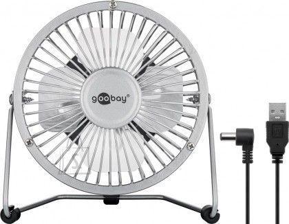 Goobay Goobay 77503 4 Inch Desktop USB fan, silver, 1.2m