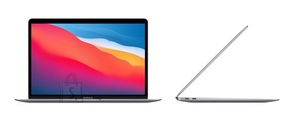 """Apple Apple MacBook Air Space Grey, 13.3 """", IPS, 2560 x 1600, Apple M1, 8 GB, SSD 256 GB, Apple M1 7-core GPU, Without ODD, macOS, 802.11ax, Bluetooth version 5.0, Keyboard language English, Keyboard backlit, Warranty 12 month(s), Battery warranty 12 month(s), Retina with True Tone Technology"""