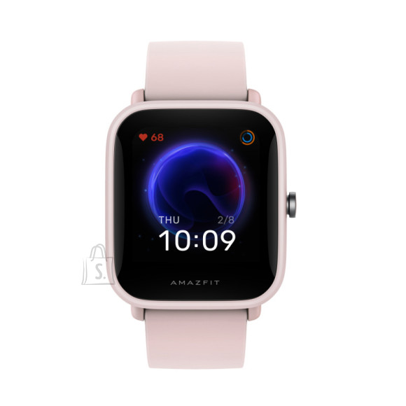 Amazfit Bip U Pro Smart watch, GPS (satellite), TFT LCD, Touchscreen, Heart rate monitor, Activity monitoring Yes, Waterproof, Bluetooth, Rubber, Silicone, Pink
