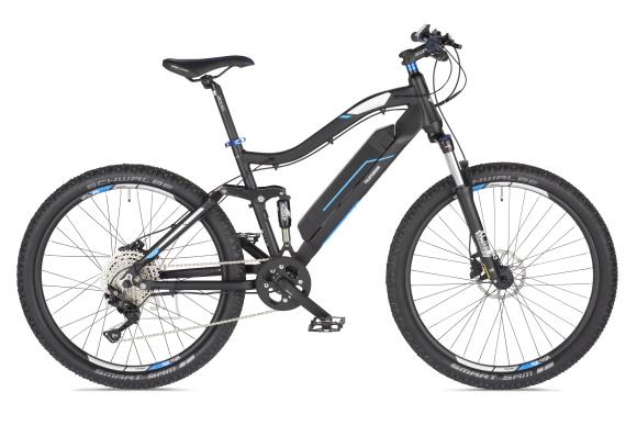 "Telefunken Telefunken Aufsteiger M930, MTB E-Bike, Motor power 250 W, Wheel size 27.5 "", Warranty 24 month(s), Anthracite/Blue"