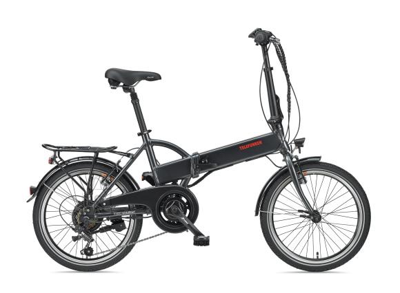 """Telefunken Telefunken Kompakt F820, Folding E-Bike, Motor power 250 W, Wheel size 20 """", Warranty 24 month(s), Anthracite"""