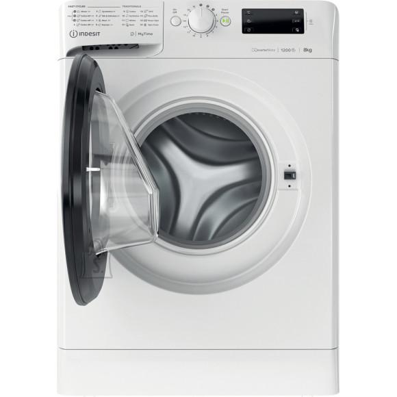 Indesit INDESIT Washing machine MTWE 81283 WK EE Energy efficiency class D, Front loading, Washing capacity 8 kg, 1200 RPM, Depth 60.5 cm, Width 59.5 cm, Display, Big Digit, White, Free standing