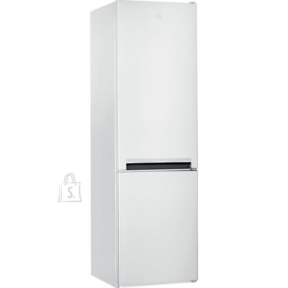 Indesit <br /><br /> Producer product name: <strong>LI9 S1E W</strong><br /><br /> Producer product family: <strong>Refrigerator</strong><br /><br /> <br /><br /> <strong>DISAIN</strong><br /><br /> Ukse avanemise nurk: <strong>null ?</strong><br /><br /> S?gavk?lmiku riiulite/korvide arv: <strong>3</strong><br /><br /> Riiulite materjal: <strong>Glass </strong><br /><br /> Toote v?rv: <strong>White</strong><br /><br /> T??p: <strong>Combi</strong><br /><br /> Ukseriiulid: <strong>4</strong><br /><br /> Uste arv: <strong>2</strong><br /><br /> Juurviljasahtlite arv: <strong>1</strong><br /><br /> Kontrolli t??p: <strong>Electronic</strong><br /><br /> Lambi t??p: <strong>LED</strong><br /><br /> K?lmkapi riiulite/korvide arv: <strong>6</strong><br /><br /> Munariiul: <strong>Ei</strong><br /><br /> Lapselukk: <strong>Ei</strong><br /><br /> Pudeliriiul: <strong>Ei</strong><br /><br /> Riiulite arv: <strong>5</strong><br /><br /> <br /><br /> <strong>S?GAVK?LMIK</strong><br /><br /> S?gavk?lmiku paigutus: <strong>Bottom</strong><br /><br /> S?ilitamise aeg elektrikatkestuse ajal: <strong>24 h</strong><br /><br /> Kiirk?lmutuse funktsioon: <strong>Jah</strong><br /><br /> S?gavk?lmiku sulatamise funktsioon: <strong>Manual</strong><br /><br /> <br /><br /> <strong>TOIMIMINE</strong><br /><br /> Toote t??p: <strong>Free standing</strong><br /><br /> M?ratase: <strong>39 dB</strong><br /><br /> K?lmutusv?imsus: <strong>6 kg/24h</strong><br /><br /> K?lmkapi netomahutavus: <strong>261 L</strong><br /><br /> Neto kogumahutavus: <strong>372 L</strong><br /><br /> S?gavk?lmiku netomahutavus: <strong>111 L</strong><br /><br /> K?lmumisvastane s?steem: <strong>Ei</strong><br /><br /> Veekraan: <strong>Ei</strong><br /><br /> Maksimaalne kasutamistemperatuur: <strong>null ?C</strong><br /><br /> Temperatuuride arv: <strong>2</strong><br /><br /> M?raemissiooni klass: <strong>C</strong><br /><br /> <br /><br /> <strong>V?IMSUS</strong><br /><br /> Energiat?hususe klass: <strong>