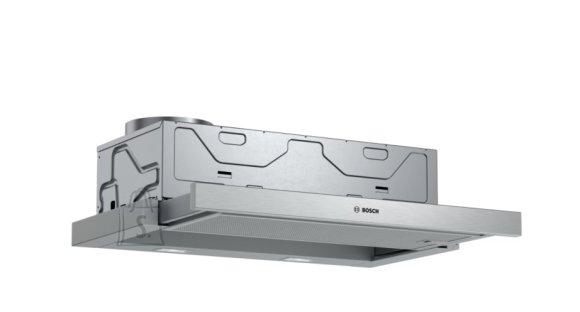 Bosch Bosch Hood Serie 4 DFM064A53 Telescopic, Energy efficiency class A, Width 60 cm, 270 m?/h, Push Buttons, LED, Silver