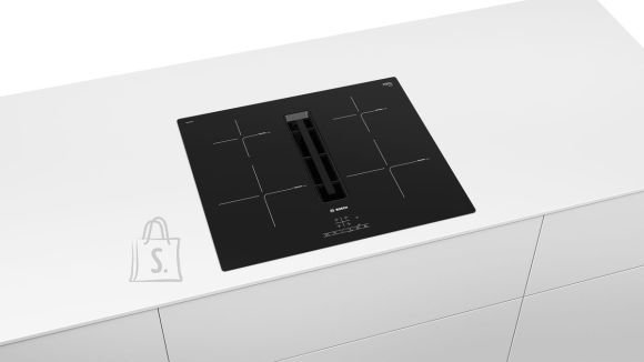 Bosch Bosch PIE611B15E Induction hob with built-in hood, Number of burners/cooking zones 4, TouchSelect Control, Timer, Black, Display