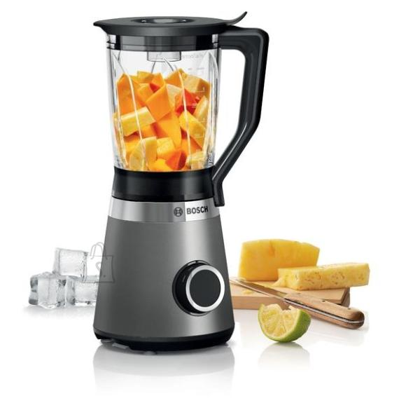 Bosch <br /><br /> Producer product name: <strong>MMB6172S</strong><br /><br /> Producer product family: <strong>VitaPower Serie 4 Blender</strong><br /><br /> <br /><br /> <strong>MATERJAL</strong><br /><br /> Materjal, kann(ud): <strong>Glass</strong><br /><br /> Materjal, nuga: <strong>Stainless steel</strong><br /><br /> <br /><br /> <strong>TOIMIMINE</strong><br /><br /> Kiiruste arv: <strong>2</strong><br /><br /> J??purustamine: <strong>Jah</strong><br /><br /> Impulssfunktsioon: <strong>Jah</strong><br /><br /> Muudetav kiirus: <strong>Jah</strong><br /><br /> <br /><br /> <strong>FUNKTSIOONID</strong><br /><br /> Toote v?rv: <strong>Black/Silver</strong><br /><br /> T??p: <strong>Tabletop</strong><br /><br /> N?udepesumasinakindel: <strong>Yes </strong><br /><br /> Lihtne puhastada: <strong>Jah</strong><br /><br /> Juhtme pikkus: <strong>null m</strong><br /><br /> <br /><br /> <strong>PAKENDI SISU</strong><br /><br /> Tarvikud kaasa arvatud: <strong>1 x suppression piece</strong><br /><br /> <br /><br /> <strong>TEHNILISED ANDMED</strong><br /><br /> Kaas koos t?iteavaga: <strong>Jah</strong><br /><br /> Suur kann: <strong>1.5 L</strong><br /><br /> <br /><br /> <strong>V?IMSUS</strong><br /><br /> V?imsus: <strong>1200 W</strong><br /><br /> Pinge: <strong>220-240 V</strong><br /><br /> <br /><br /> <strong>DISAIN</strong><br /><br /> Eemaldatav n?u: <strong>Jah</strong><br /><br /> Korpuse materjal: <strong>Plastic</strong><br /><br /> <br /><br /> <strong>KAAL JA M??TMED</strong><br /><br /> Laius: <strong>23 cm</strong><br /><br /> K?rgus: <strong>41 cm</strong><br /><br /> S?gavus: <strong>19.5 cm</strong><br /><br /> Toote kaal: <strong>4.14 Kg</strong><br />