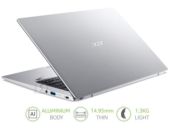 "Acer Acer Swift 1 SF114-33-P967 Silver, 14.0 "", IPS, FHD, 1920x1080 pixels, Matt, Intel Pentium, N5030, 8 GB, LPDDR4, SSD 256 GB, Intel UHD 605, No ODD, Windows 10 Home, 802.11ax, Bluetooth version 5.0, Keyboard language English, Keyboard backlit, Warranty 24 month(s), Battery warranty 12 month(s)"