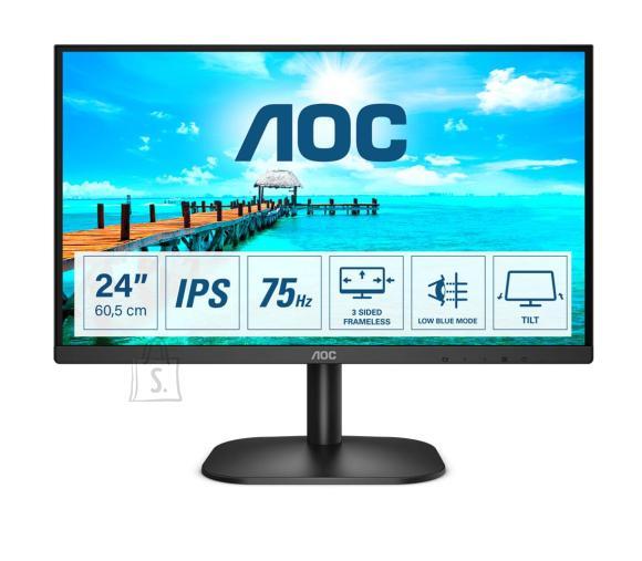 "AOC AOC Thin and Sleek Monitor 24B2XD 23.8 "", IPS, FHD, 1920 x 1080, 16:9, 4 ms, 250 cd/m?, Black"