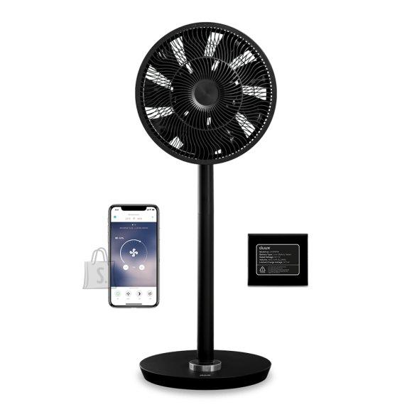 DUUX Duux Smart Fan Whisper Flex Smart Black with Battery Pack Stand Fan, Timer, Number of speeds 26, 2-22 W, Oscillation, Diameter 34 cm, Black