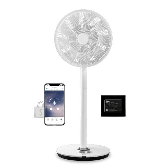 DUUX Duux Smart Fan Whisper Flex Smart Black with Battery Pack Stand Fan, Timer, Number of speeds 26, 2-22 W, Oscillation, Diameter 34 cm, White