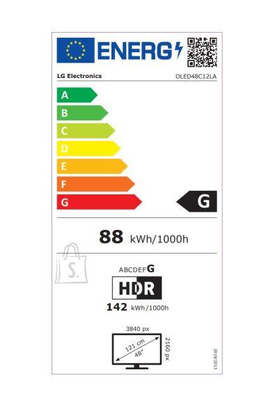 """LG LG OLED48C12LA 48"""" (121 cm), Smart TV, WebOS, 4K UHD OLED, 3840 x 2160, Wi-Fi, DVB-T/T2/C/S2, Vanilla White"""