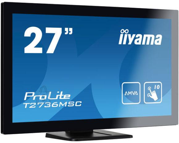 "Iiyama Iiyama Monitor T2736MSC-B1 27 "", Touchscreen, 1920 x 1080 pixels, 16:9, 4 ms, 255 cd/m?, Black, matte, HDCP, HDMI ports quantity 1"