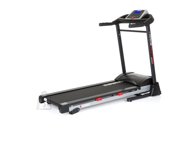 Hammer 2000M Race Runner Treadmill, 110 kg, 2 HP, Black/Silver/Red, LCD-Display