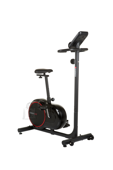 Hammer Cardio 4.0 Fitness Bike Magnetic, 110 kg, Black/Red, LCD display