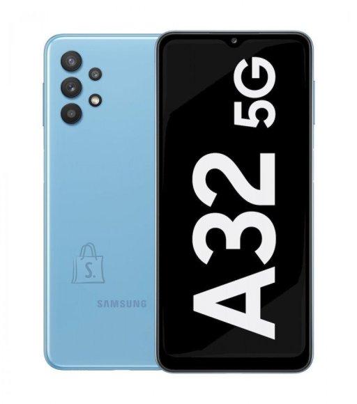 "Samsung Samsung Galaxy A32 5G Blue, 6.5 "", TFT, 720 x 1600, MediaTek MT6853 Dimensity 720 5G, Internal RAM 4 GB, 128 GB, MicroSD, Dual SIM, Nano-SIM, 3G, 4G, 5G, Main camera Quad 48+8+5+2 MP, Secondary camera 13 MP, Android, 11, 5000 mAh"