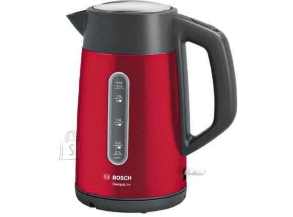 Bosch Bosch Kettle DesignLine TWK4P434 Electric, 2400 W, 1.7 L, Stainless steel, 360? rotational base, Red/Black
