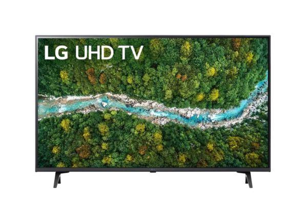 """LG LG 43UP77003LB 43"""" (109 cm), Smart TV, WebOS, 4K UHD, 3840 x 2160, Wi-Fi, DVB-T/T2/C/S/S2, Dark gray"""
