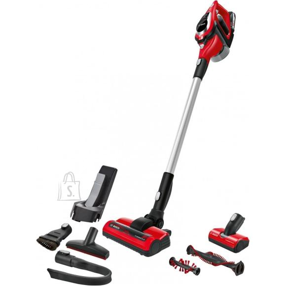 Bosch Bosch Vacuum cleaner Unlimited ProAnimal BBS81PET Cordless operating, Handstick and Handheld, 18 V, Operating time (max) 40 min, Red/Black, Warranty 24 month(s), Battery warranty 24 month(s)