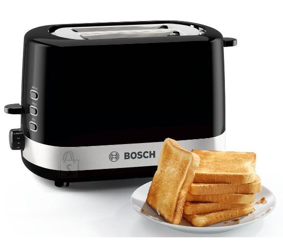 Bosch Bosch Toaster TAT7403 Power 800 W, Number of slots 2, Housing material Plastic, Black/Stainless steel