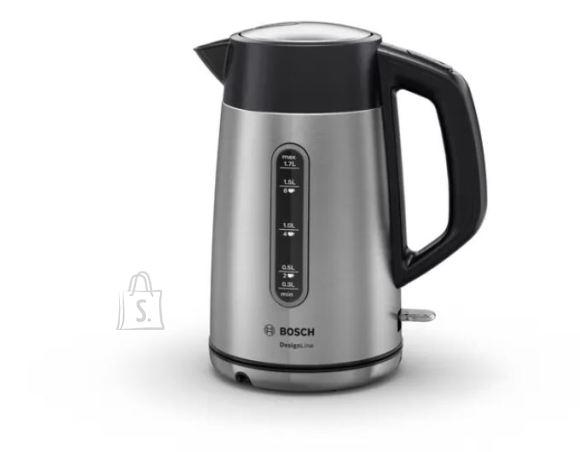 Bosch Bosch Kettle DesignLine TWK4P440 Electric, 2400 W, 1.7 L, Stainless steel, 360? rotational base, Stainless steel/Black