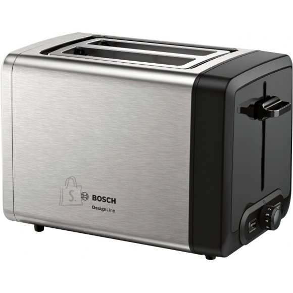 Bosch <br /><br /> Producer product name: <strong>TAT4P420</strong><br /><br /> Producer product family: <strong>DesignLine Toaster</strong><br /><br /> <br /><br /> <strong>FUNKTSIOONID</strong><br /><br /> Toote v?rv: <strong>Stainless steel/Black</strong><br /><br /> Viilude arv: <strong>2</strong><br /><br /> Pesade arv: <strong>2</strong><br /><br /> Pikk ava: <strong>Ei</strong><br /><br /> Juhtmehoidik: <strong>Jah</strong><br /><br /> Korpuse materjal: <strong>Stainless Steel</strong><br /><br /> <br /><br /> <strong>TEHNILISED ANDMED</strong><br /><br /> Eemaldatav purukandik: <strong>Jah</strong><br /><br /> Isetsentreeruva leiva mehhanism: <strong>Jah</strong><br /><br /> Kuklisoojendaja kaasa arvatud: <strong>Jah</strong><br /><br /> Automaatne h?pikmehhanism: <strong>Jah</strong><br /><br /> K?rgelet?ste mehhanism: <strong>Jah</strong><br /><br /> Stop/t?hista-nupp: <strong>Jah</strong><br /><br /> Elektrooniline pruunistumiskontroll: <strong>Electronically controlled, smooth roasting</strong><br /><br /> Integreeritud taimer: <strong>Jah</strong><br /><br /> <br /><br /> <strong>TOIMIMINE</strong><br /><br /> Taimer: <strong>Jah</strong><br /><br /> Reguleeritav termostaat: <strong>Jah</strong><br /><br /> <br /><br /> <strong>MUUD FUNKTSIOONID</strong><br /><br /> V?imsus: <strong>970 W</strong><br /><br /> ?lessoojendamise funktsioon: <strong>Jah</strong><br /><br /> ?lessulatamise funktsioon: <strong>Jah</strong><br /><br /> Toote kaal: <strong>1.61 Kg</strong><br />