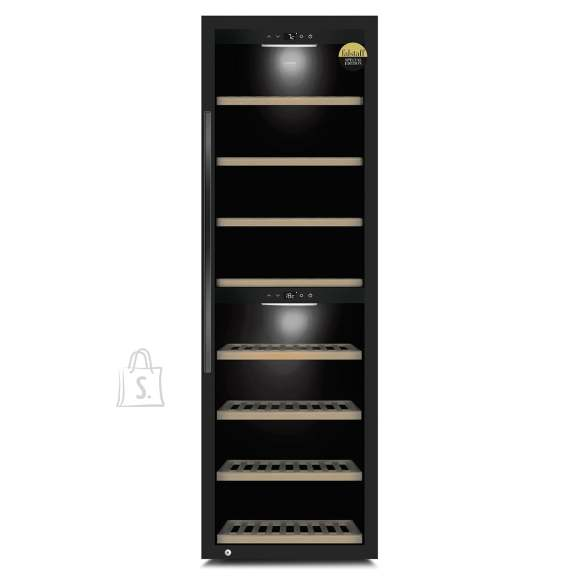 Caso Caso Smart Wine Cooler WineExclusive 180 Energy efficiency class G, Free standing, Bottles capacity Up to 180 bottles, Cooling type Compressor technology, Black