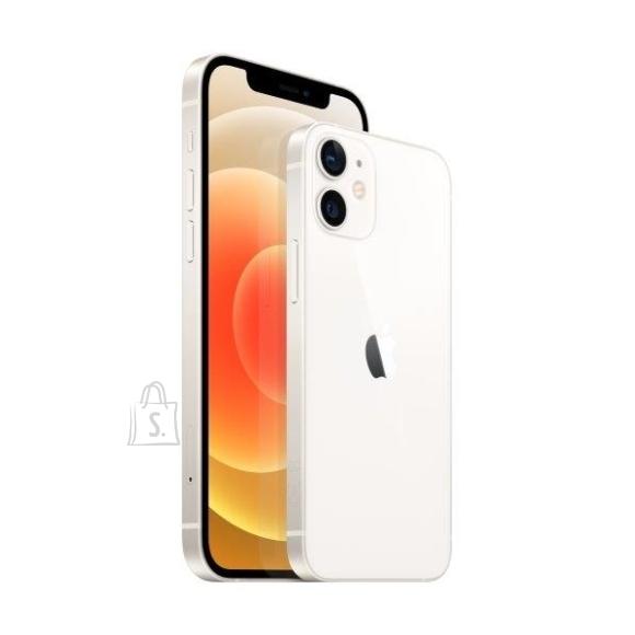 "Apple Apple iPhone 12 mini White, 5.4 "", Super Retina XDR OLED, 1080 x 2340 pixels, Apple, A14 Bionic, Internal RAM 4 GB, 64 GB, Single SIM, Nano-SIM, 3G, 4G, 5G, Main camera Dual 12+12 MP, Secondary camera 12 MP, iOS, 14, 2227 mAh"
