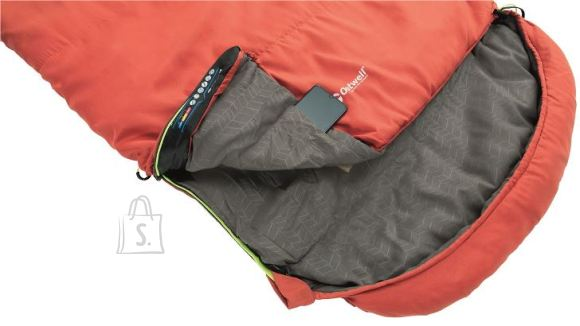 Outwell Outwell Campion Lux, Sleeping Bag, 225 x 85 cm,  2 way open - auto lock, L-shape, Red